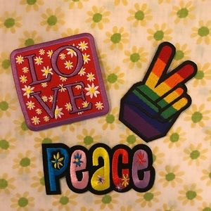 Other - 60s Iron-on Patches 🌼 ☮️❤️